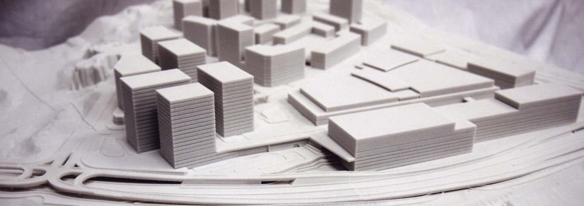 Архитектурный макет из полимеров