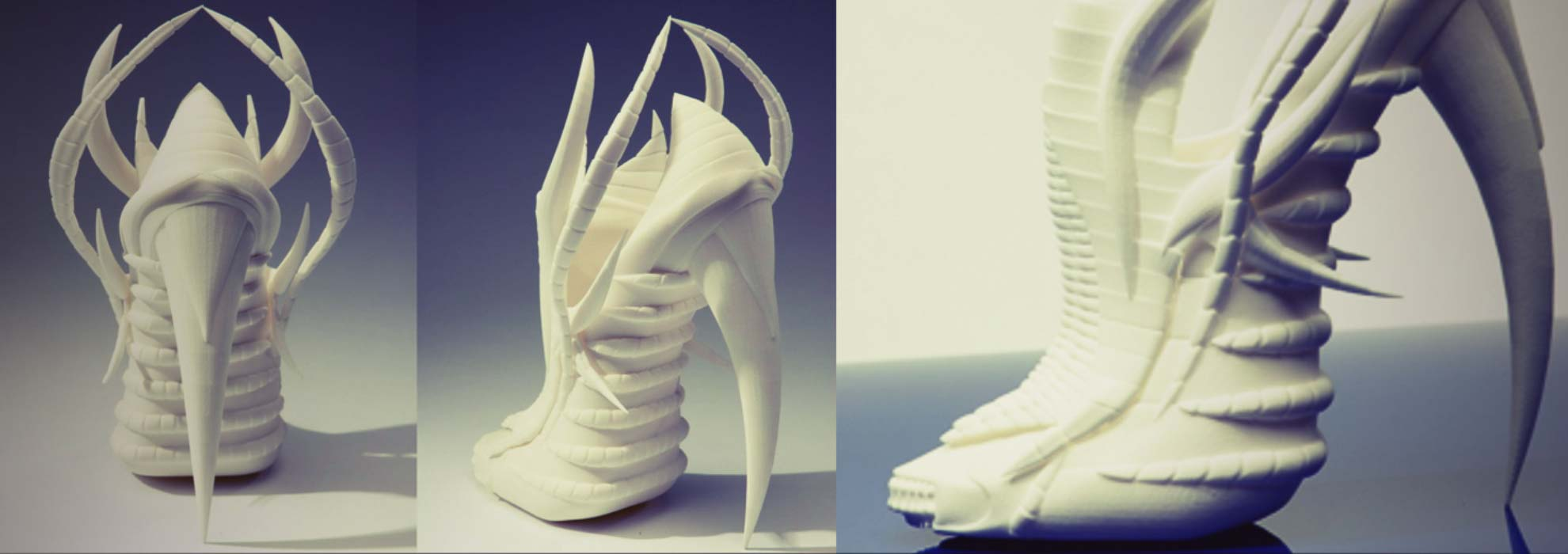 Дизайнерские туфли из полимера