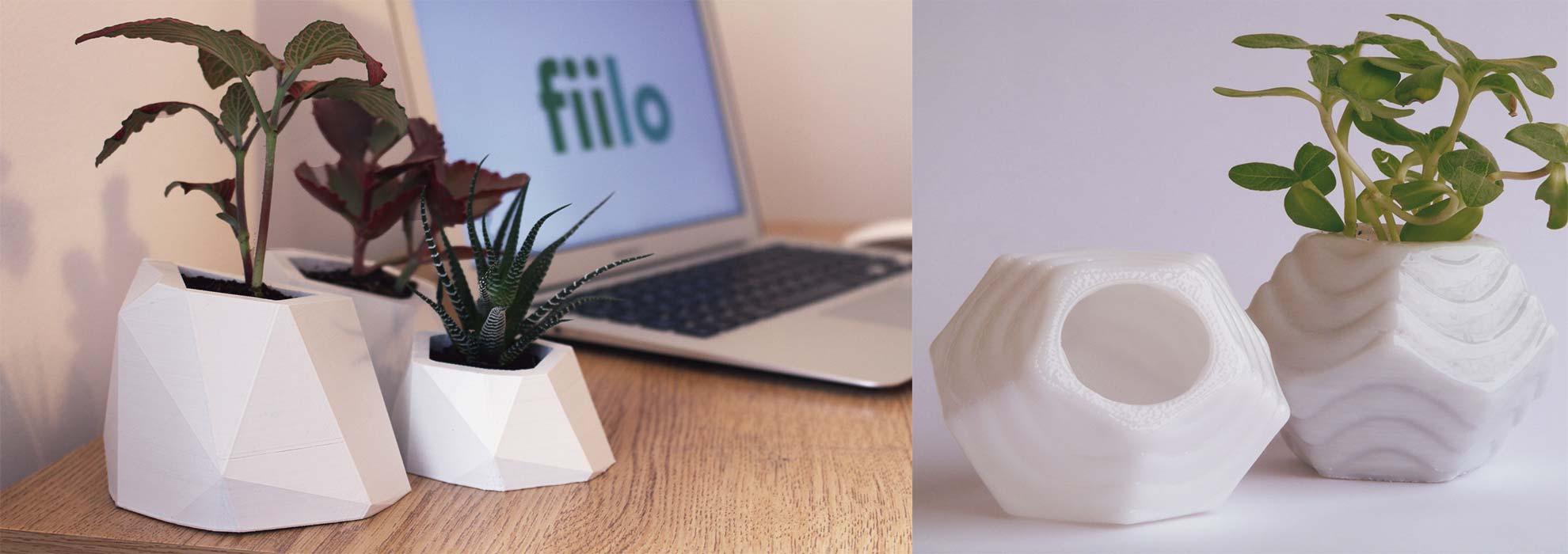Необычные цветочные горшки изготовленные на 3Д принтере