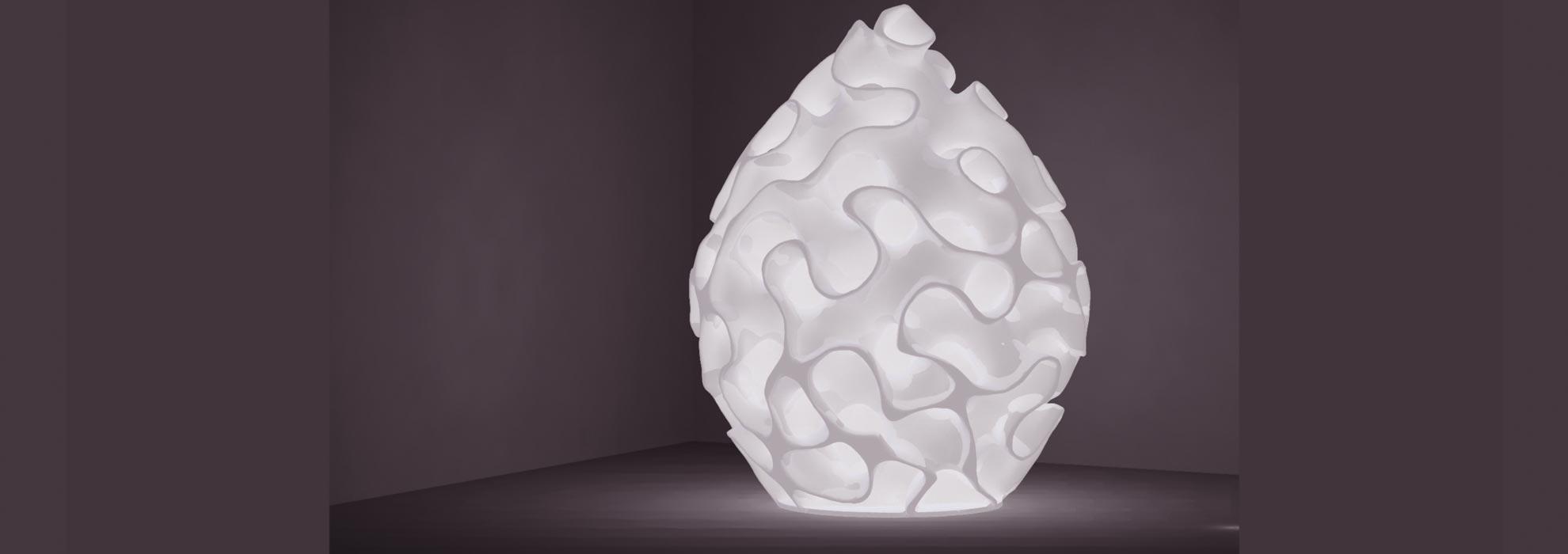 Оригинальная лампа напечатанная на 3Д принтере