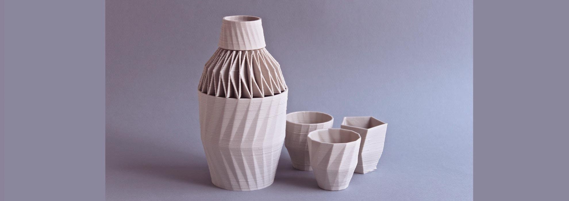 Графин и стаканы изготовленные на 3Д принтере
