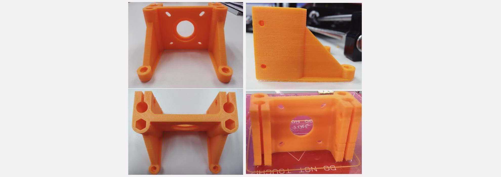 Запчасти из оранжевого полимера