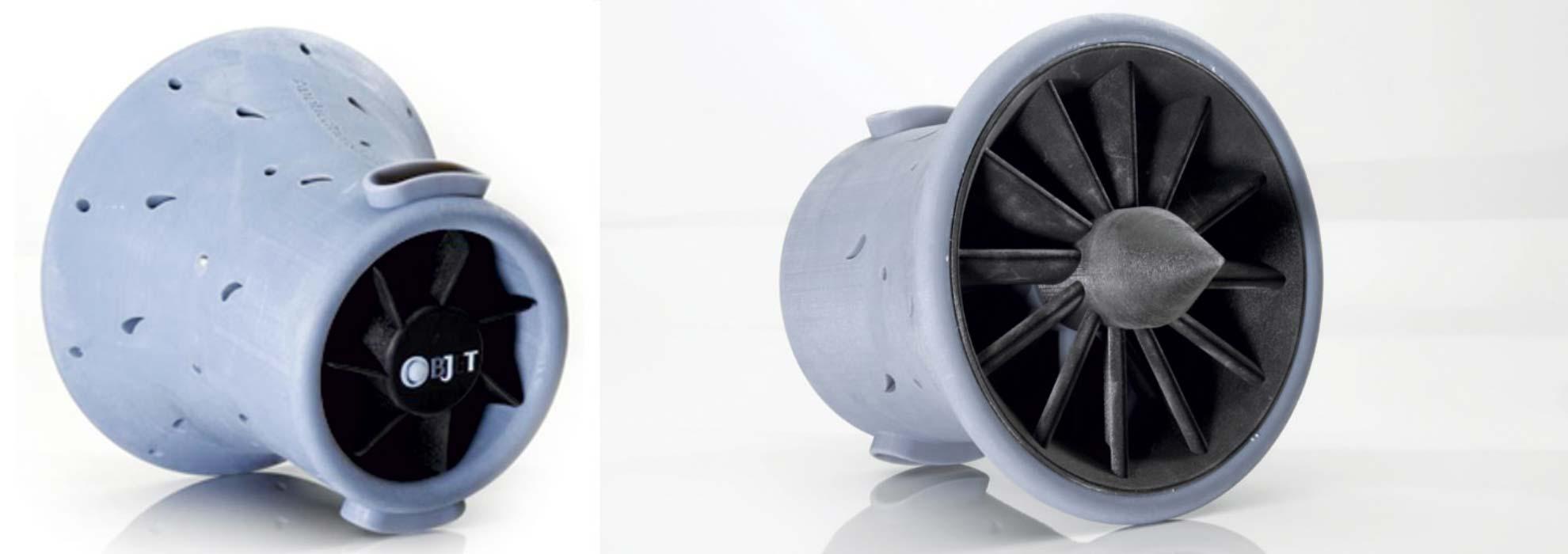 Макет турбины самолета