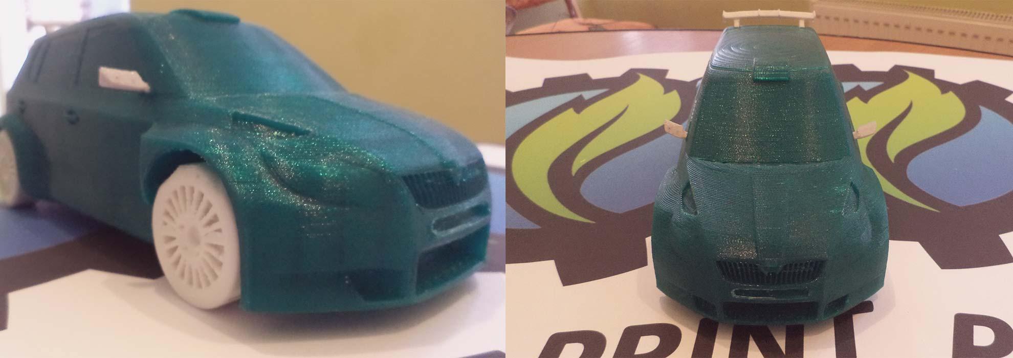 Уменьшенная копия автомобиля Skoda