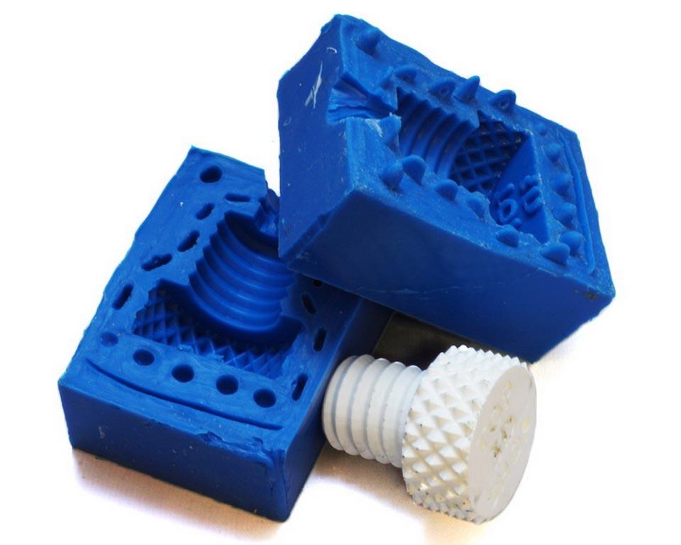 силиконовая форма для литья пластика - болт